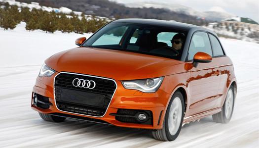 в дороге Audi A1 quattro