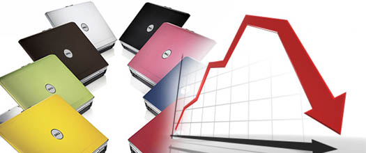 падение в мире спроса на ноутбуки